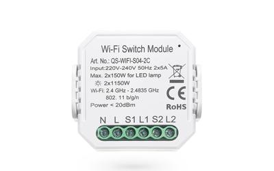 Smart Wi-Fi Switch Module 2 Channel